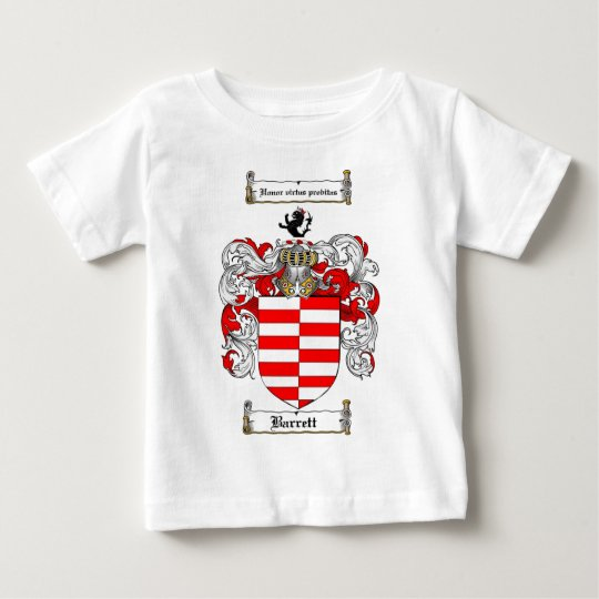 BARRETT FAMILY CREST -  BARRETT COAT OF ARMS BABY T-Shirt