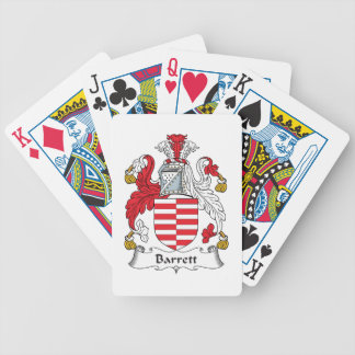 Barrett Family Crest Playing Cards