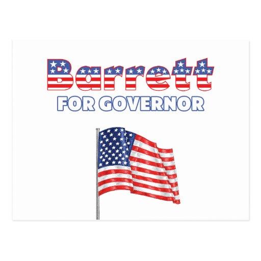 Barrett for Governor Patriotic American Flag Postcard