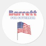 Barrett for Governor Patriotic American Flag Classic Round Sticker