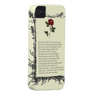 Barrett que broncea sonetos de los 43 portugues Case-Mate iPhone 4 carcasas