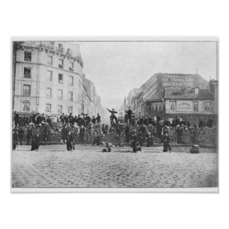 Barricade at the Faubourg Saint-Antoine Poster