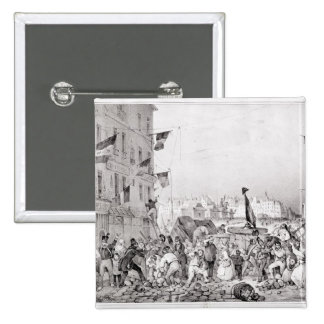 Barricade at the Rue Dauphine Pinback Button