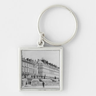 Barricade during the Commune of Paris Silver-Colored Square Keychain