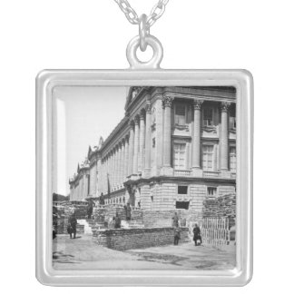 Barricade during the Commune of Paris Silver Plated Necklace