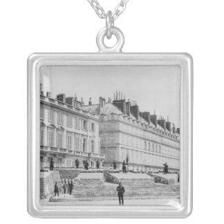 Barricade during the Commune of Paris Square Pendant Necklace