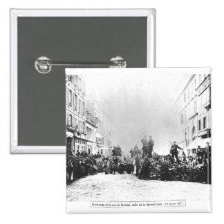 Barricade in the Rue de Flandre Pinback Button