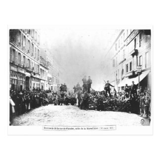 Barricade in the Rue de Flandre Postcard
