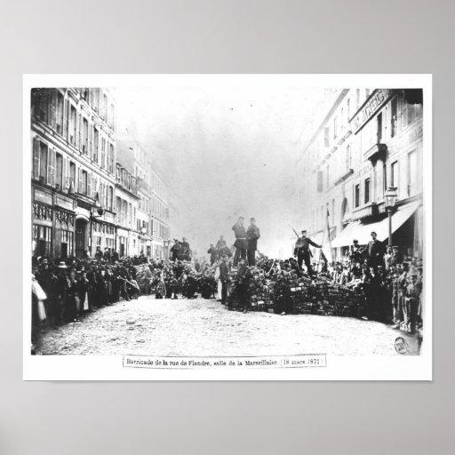 Barricade in the Rue de Flandre Poster