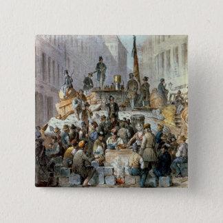 Barricades in Marzstrasse, Vienna, 1848 Button