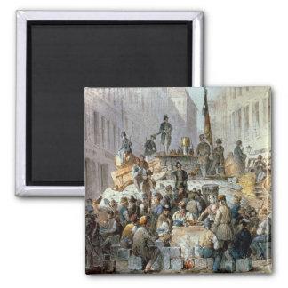Barricades in Marzstrasse, Vienna, 1848 Magnet