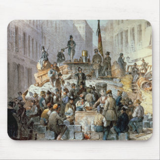 Barricades in Marzstrasse, Vienna, 1848 Mouse Pad