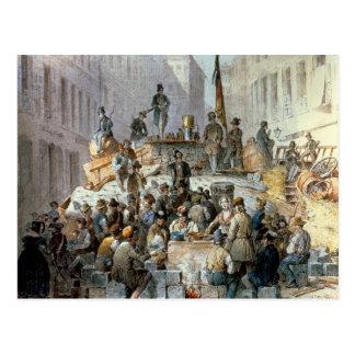 Barricades in Marzstrasse, Vienna, 1848 Postcard