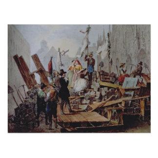 Barricades in the Stephansplatz, Vienna, 1848 Postcard