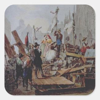 Barricades in the Stephansplatz, Vienna, 1848 Sticker