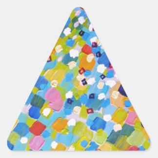 BARRIDO 1 - océano colorido brillante del azul del Pegatinas Triangulo Personalizadas