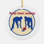 ¡Barrido real de los hombres! El encresparse Ornamento De Navidad