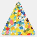 BARRIDOS 2 - arte colorido vibrante del mango del Calcomanía Triangulo Personalizadas