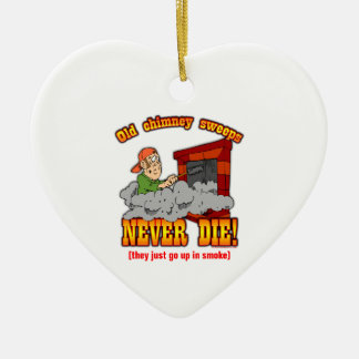 Barridos de chimenea adorno navideño de cerámica en forma de corazón