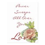 ¡Barridos del poder del amor por todo usted! Posta Tarjeta Postal