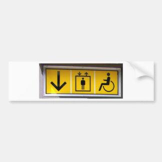 Barrier-free-access-in-local-public-transport Car Bumper Sticker