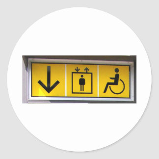 Barrier-free-access-in-local-public-transport Classic Round Sticker