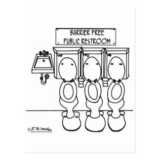 Barrier Free Public Restroom Postcard
