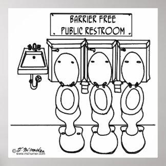 Barrier Free Public Restroom Poster
