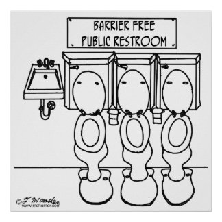 Barrier Free Public Restroom Print