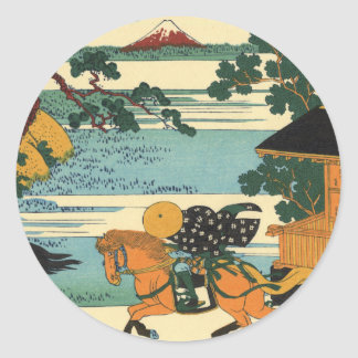 Barrier Town on the Sumida River Classic Round Sticker