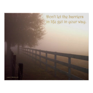 Barriers of Life by TDGallery Poster