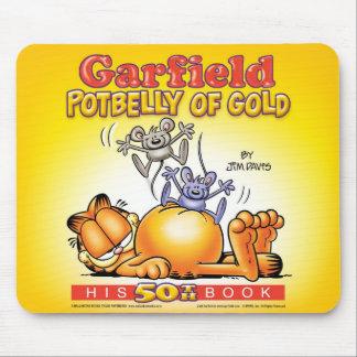 Barriga de Garfield del oro Mousepad Alfombrillas De Ratón
