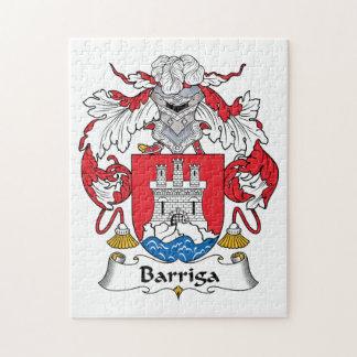 Barriga Family Crest Puzzle