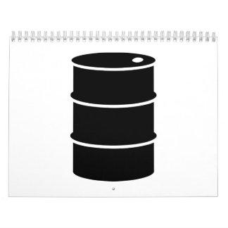 Barril de aceite calendarios