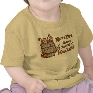 Barril de camiseta del niño de los monos