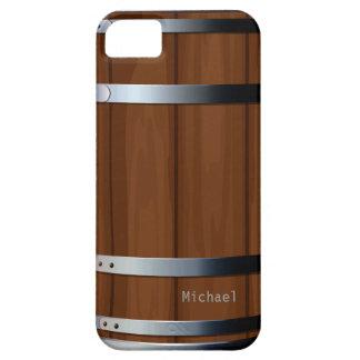 Barril de cerveza de madera retro funda para iPhone 5 barely there