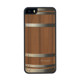 Barril de cerveza de madera retro funda de arce carved® para iPhone 5