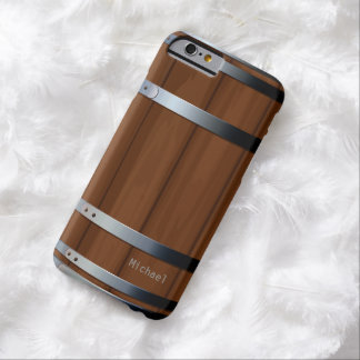 Barril de cerveza de madera retro funda de iPhone 6 barely there