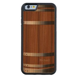 Barril de cerveza de madera retro funda de iPhone 6 bumper cerezo