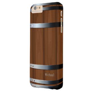 Barril de cerveza de madera retro funda para iPhone 6 plus barely there