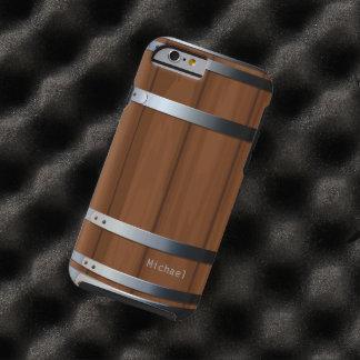 Barril de cerveza de madera retro funda para iPhone 6 tough