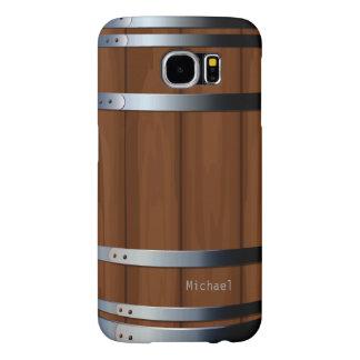 Barril de cerveza de madera retro fundas samsung galaxy s6