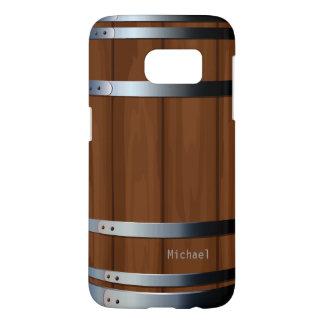 Barril de cerveza de madera retro fundas samsung galaxy s7