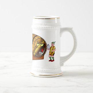 Barril de cerveza jarra de cerveza