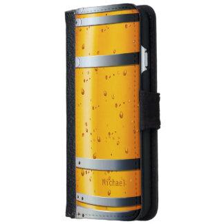 Barril de cerveza retro del vintage funda cartera para iPhone 6