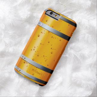 Barril de cerveza retro viejo funda de iPhone 6 barely there