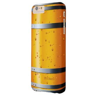 Barril de cerveza retro viejo funda de iPhone 6 plus barely there