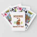 Barril de la ciencia de diversión baraja