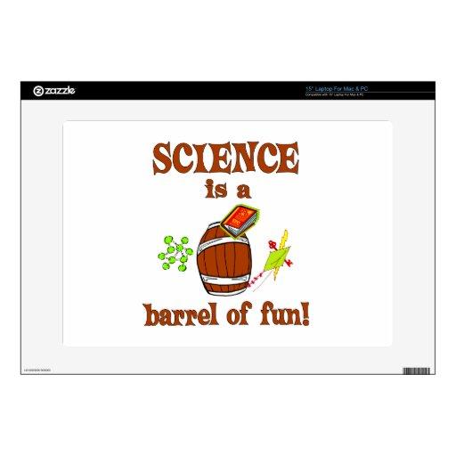 Barril de la ciencia de diversión portátil calcomanías