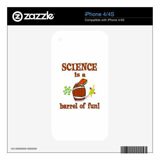 Barril de la ciencia de diversión skins para eliPhone 4